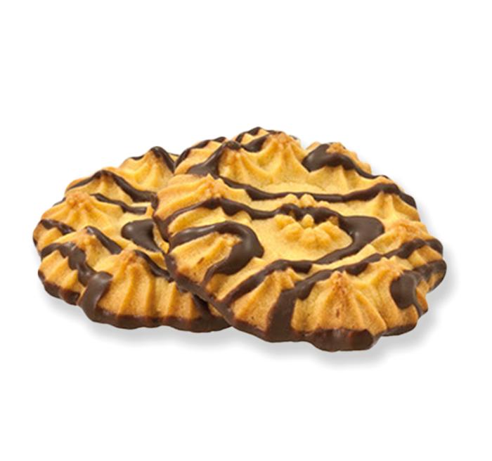 """Ciastka """"JULETKI"""" dekorowane polewą kakaową"""