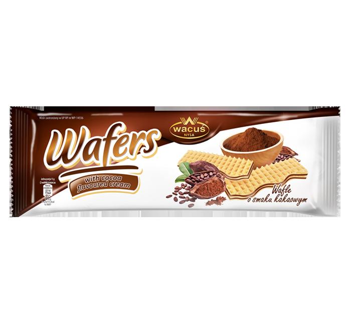 Wafle o smaku kakaowym 180g