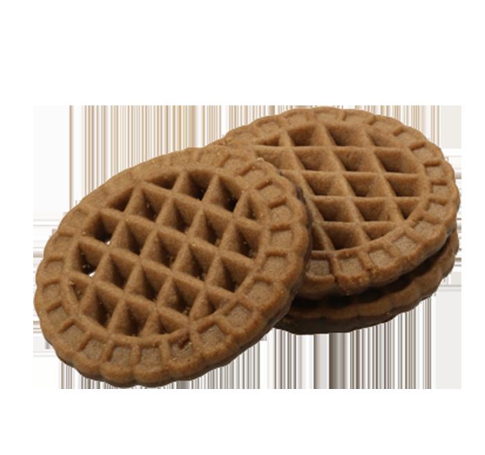 Ciastka deserowe kakaowe podlane polewą kakaową